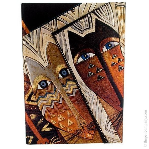 Midi Paperblanks Laurel Burch - Fantastic Felines Journal Native Cats Lined