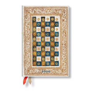 Mini Paperblanks Venetian Mornings Flexi 2020 Diary Aureo Horizontal Week-to-View - 1