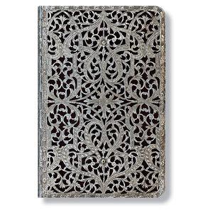 Mini Paperblanks Silver Filigree Shadow Address Book - 1