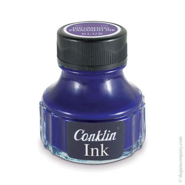 Blue Conklin Bottled Permanent Fountain Pen Ink