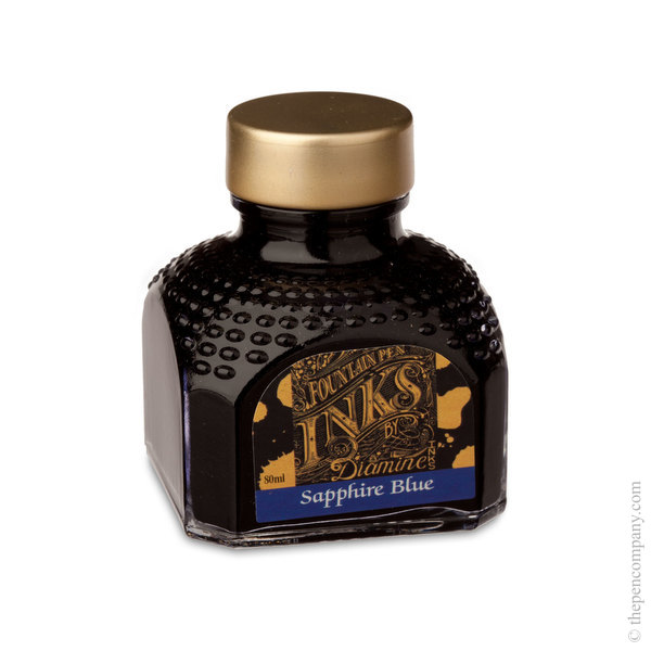 Sapphire Blue Diamine Bottled Fountain Pen Ink 80ml