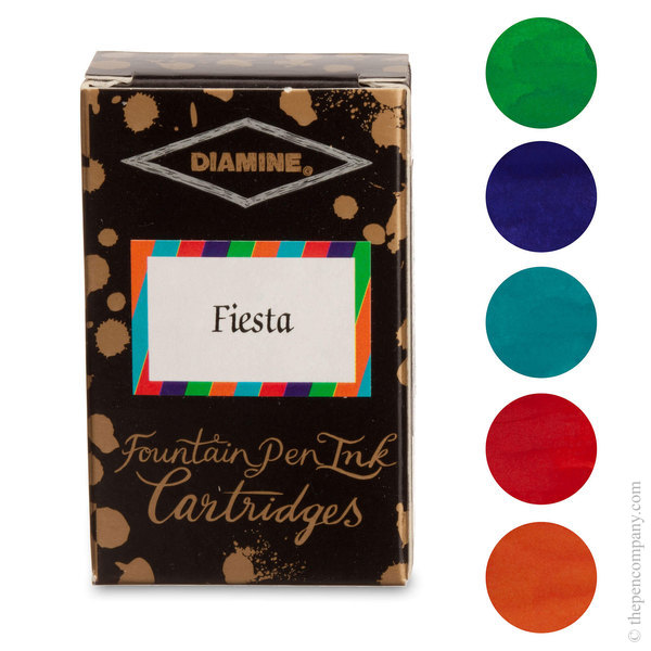 Fiesta Selection Diamine Fountain Pen Ink Cartridges Selection Pack