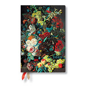 Mini Paperblanks Still Life Burst 2020 Diary Flowers and Fruit Horizontal Week-to-View - 1
