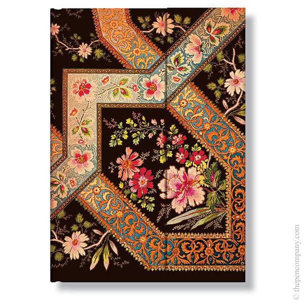 Midi Paperblanks Lyon Florals Address Book Filigree Floral-Ebony