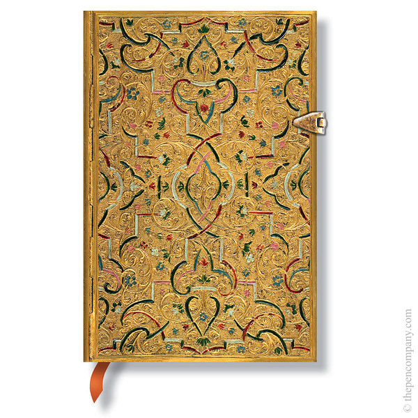 Mini Paperblanks Gold Inlay Journal Lined