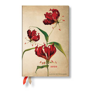 Mini Paperblanks Painted Botanicals 2020 Diary Gloriosa Lily Day-to-View - 1