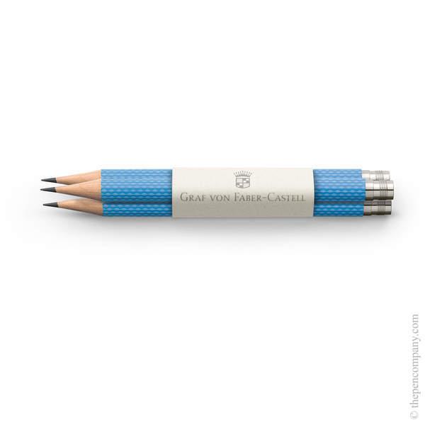 Gulf Blue Graf von Faber-Castell No.V Guilloche Pocket Pencils Graphite Pencil