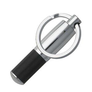 Hugo Boss Pure Black and Chrome Key Ring