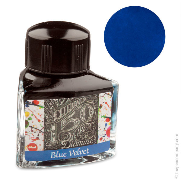 Blue Velvet Diamine Bottled 150th Anniversary Ink