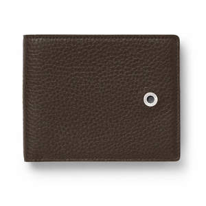 Dark Brown Graf von Faber-Castell Cashmere Leather Credit Card Case Holder - 1