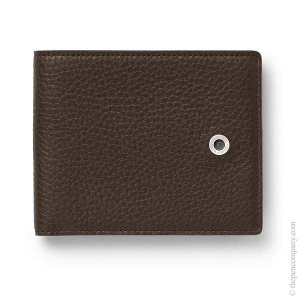 Dark Brown Graf von Faber-Castell Cashmere Leather Credit Card Case Card Holder