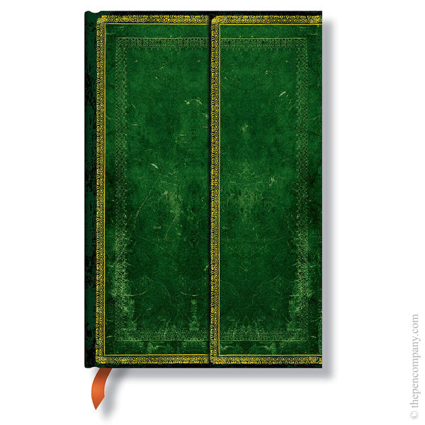 Mini Paperblanks Old Leather Journal Journal Jade Lined