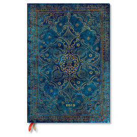 Grande Paperblanks Equinoxe 2019 Diary Azure Vertical Week-to-View - 1