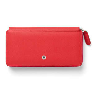 India Red Graf von Faber-Castell Epsom Leather Ladies Purse with Zip Wallet - 1