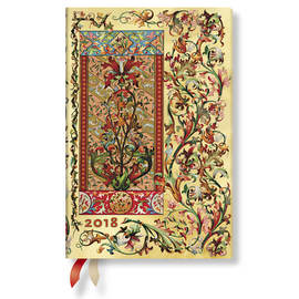 Mini Florentine Cascade 2018 Diary Tuscan Sun Horizontal Week-to-View - 1