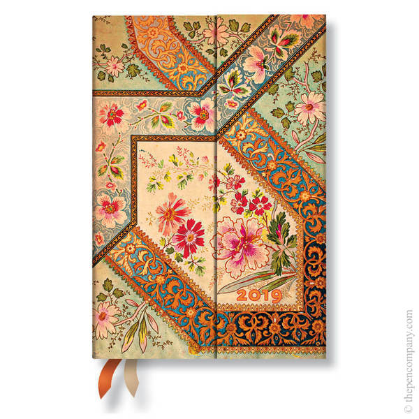 Mini Paperblanks Lyon Floral 2019 Diary Filigree Floral-Ivory Verso Week-to-View