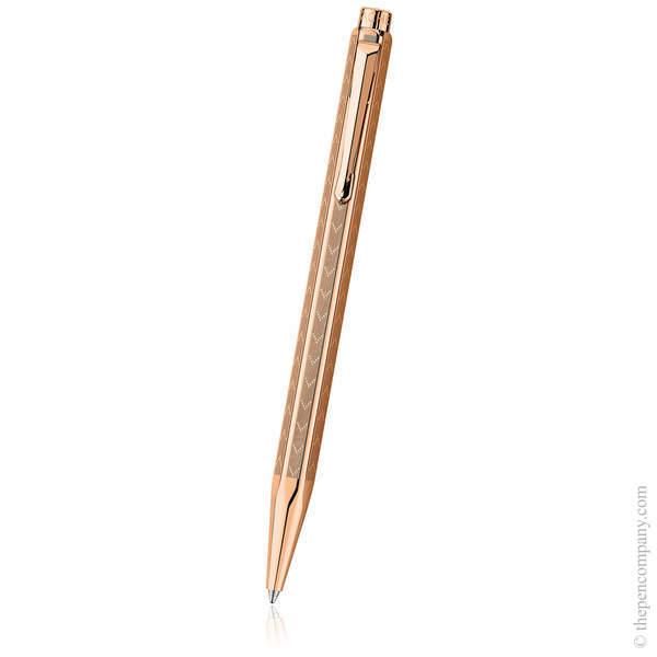 Rose Gold Chevron Caran d'Ache Ecridor Ballpoint Pen