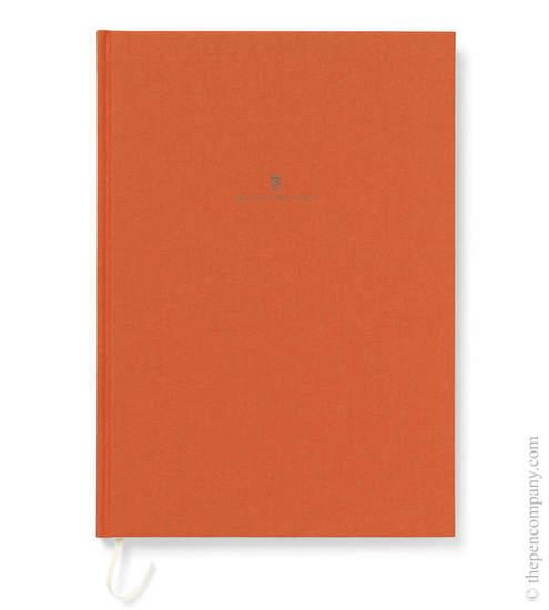 Orange A4 Graf von Faber-Castell Linen Notebook Journal - 1
