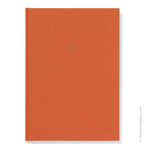A4 Burned Orange Graf von Faber-Castell Linen Notebook Journal