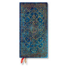 Slim Paperblanks Equinoxe 2019 Diary Azure Horizontal Week-to-View - 1
