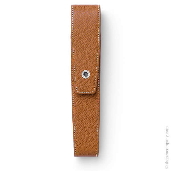 Cognac Graf von Faber-Castell Epsom Tapered Pen Case for One