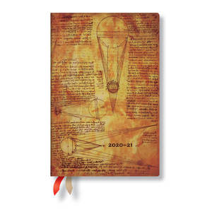 Paperblanks Sun and Moonlight Leonardo's Sketches Academic Diary Mini