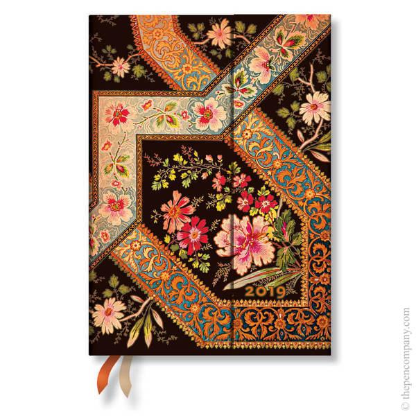 Midi Paperblanks Lyon Floral 2019 Diary