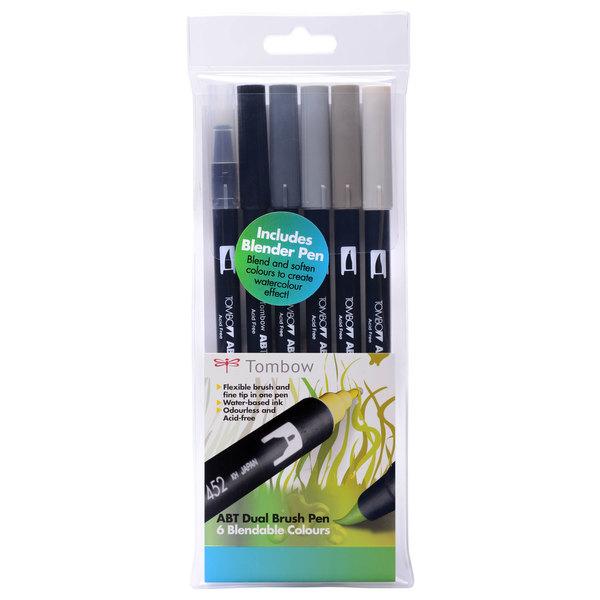 Greys Tombow ABT Brush Pen Pack of 6