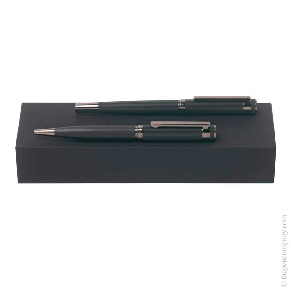 Hugo Boss Caption Ballpoint and Rollerball Set Set