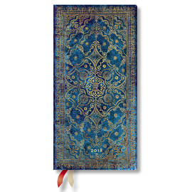 Slim Paperblanks Equinoxe 2018 Diary Azure Horizontal Week-to-View - 1