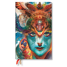 Maxi Paperblanks Android Jones Flexi 2019-2020 18 Month Diary Dharma Dragon Vertical Week-to-View -