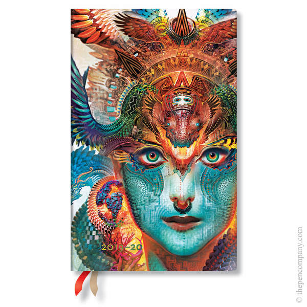 Maxi Paperblanks Android Jones Flexi 2019-2020 18 Month Diary Academic Diary Dharma Dragon Vertical Week-to-View