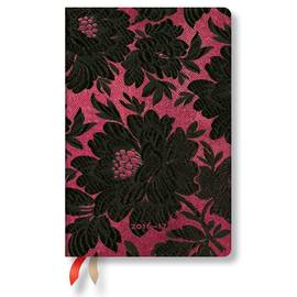 Paperblanks Mini Day-at-a-Time Chic and Satin Black Dahlia 2017 Diary - 1