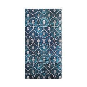 Paperblanks Blue Velvet Blue Velvet 2022 Diary Slim - Front