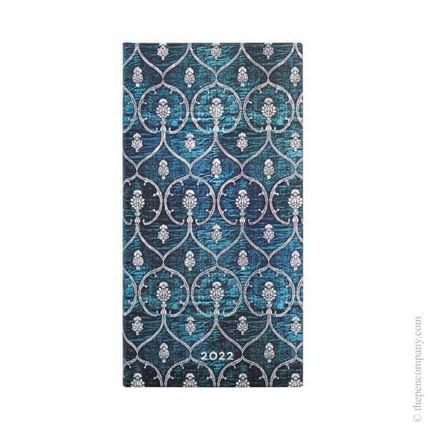 Slim Paperblanks Blue Velvet 2022 Diary 2022 Diary