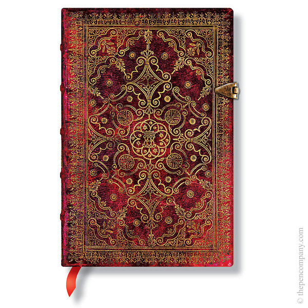 Mini Paperblanks Equinoxe Journal Journal Carmine Lined