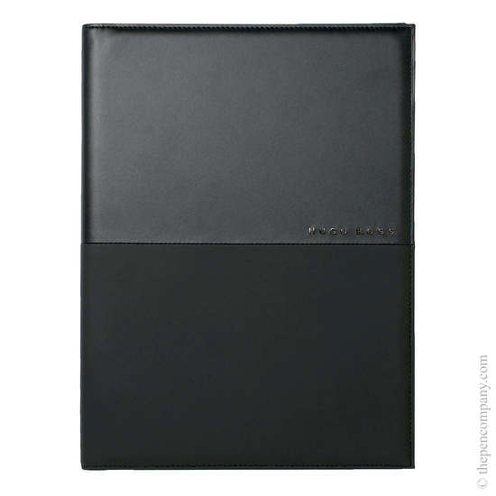 Black A4 Hugo Boss Caption Contrast Folder - 1