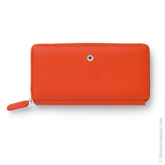 Burned Orange Graf von Faber-Castell Epsom Leather Ladies Purse with Zip Wallet - 1