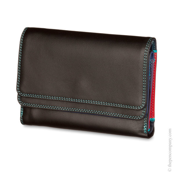 Black Pace Mywalit Double Flap Wallet/ Purse
