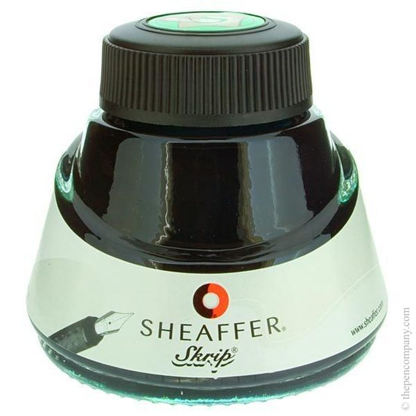 Green Sheaffer Bottled Skrip Fountain Pen Ink