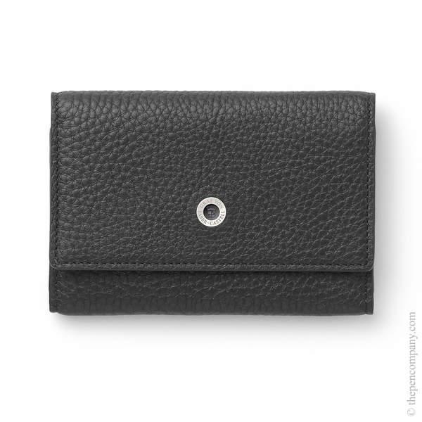 Black Graf von Faber-Castell Cashmere Leather Business Card Case Card Holder