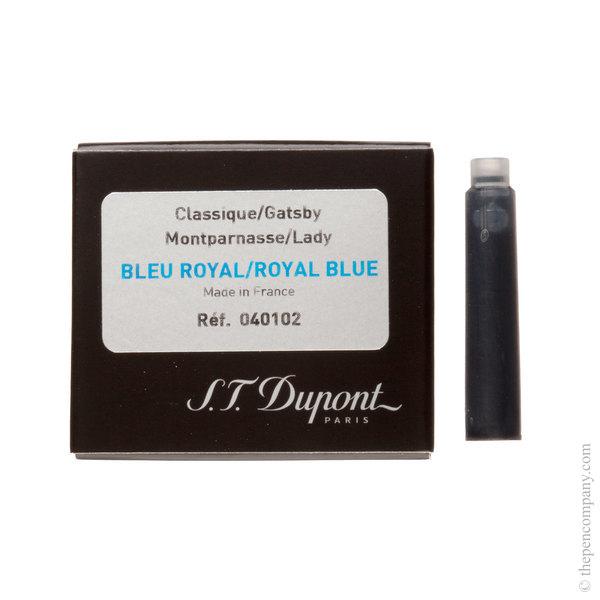 Royal Blue S.T. Dupont Classic Fountain Pen Cartridges Ink Cartridges