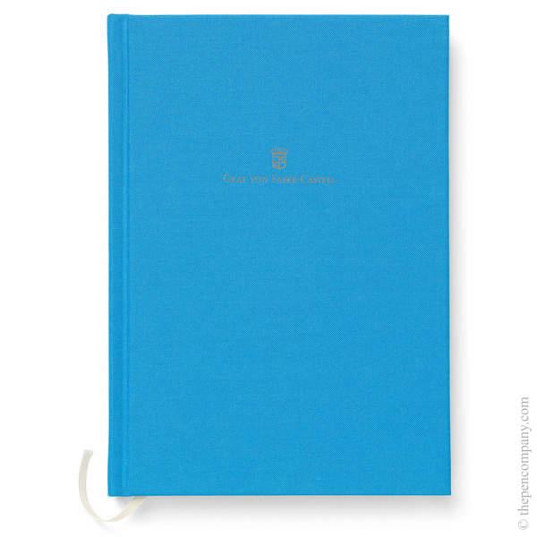 A5 Gulf Blue Graf von Faber-Castell Linen Notebook Journal