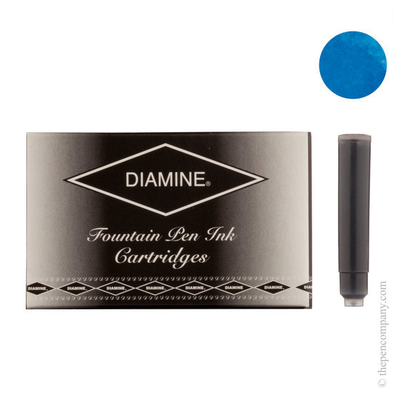 Diamine Mediterranean Blue Fountian Pen Cartridges 18 Pack - 1