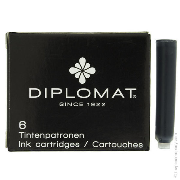 Black Diplomat Fountain Pen Cartridges Ink Cartridges