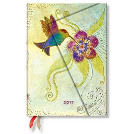 Paperblanks Midi Day-at-a-Time Laurel Burch Hummingbird 2017 Diary - 1