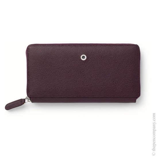 Violet Blue Graf von Faber-Castell Epsom Leather Ladies Purse with Zip Wallet - 1