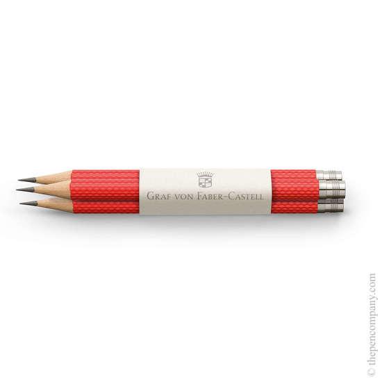 India Red Graf von Faber-Castell No.V Guilloche Pocket Pencils - 1