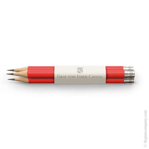India Red Graf von Faber-Castell No.V Guilloche Pocket Pencils Graphite Pencil