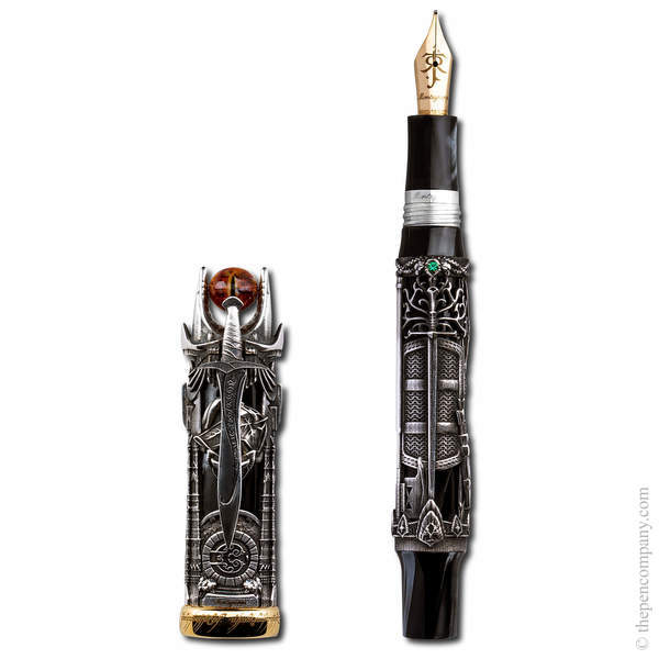 Silver Montegrappa Lord Of The Rings Limited Edition Fountain Pen - Medium